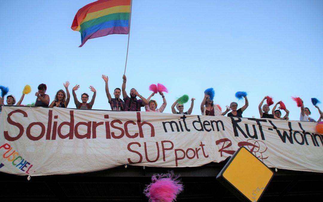Solidarisch mit dem RuT-Wohnprojekt