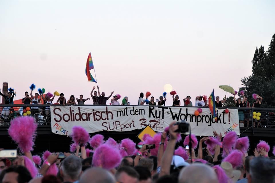 Solidarisch mit dem RuT Wohnprojekt