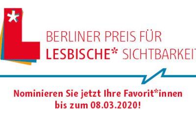 Berliner Preis für Lesbische* Sichtbarkeit