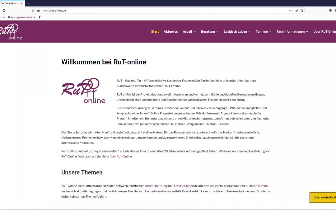 Neues Informationsportal für Lesben: RuT-Online