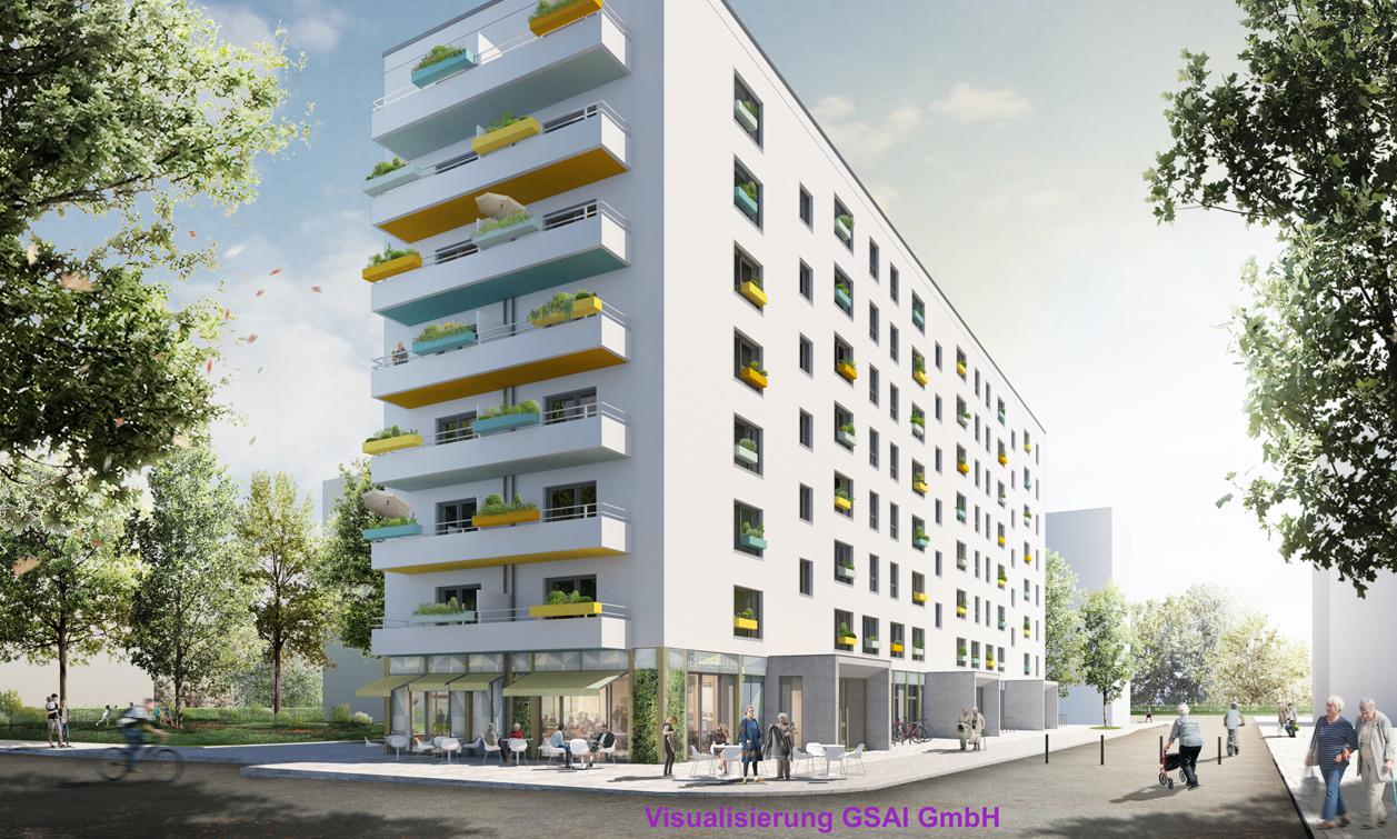 Wohnprojekt Visualisierung GSAI GmbH Galandi Schirmer Architekten und Ingenieure 1
